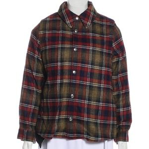 A.P.C. Wool Plaid Button-Up Jacket